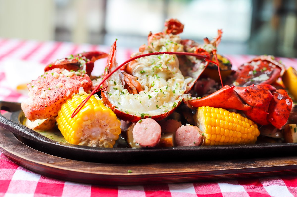 Best way to bring in the weekend? Our New England-Style Lobster Boil! Order in so you don't have to deal with the clean-up 🦞