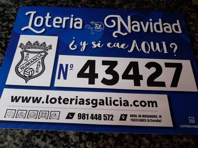 ADR Numancia de Ares. Loteria de Navidad 2020. 43427