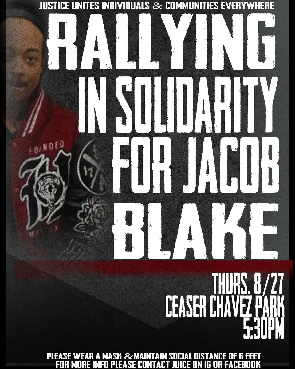 Stand in Unity Against Police Terror and Injustice #JacobBlake https://t.co/b60sFqJS79