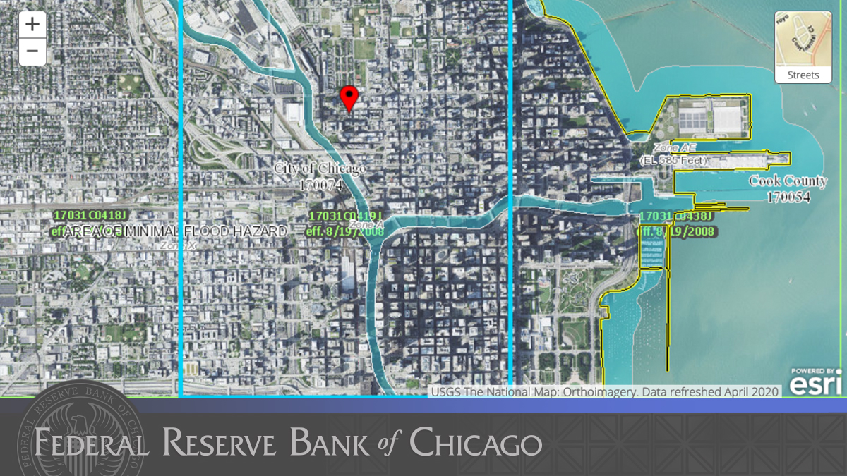 New on #ChicagoFedInsights blog: Flood risk for Chicagoans. Is your neighborhood safe? Read to learn why more Chicago properties are at risk for flooding than FEMA maps suggest. https://t.co/fcmovsYSQ2 https://t.co/MadZU7PU8k