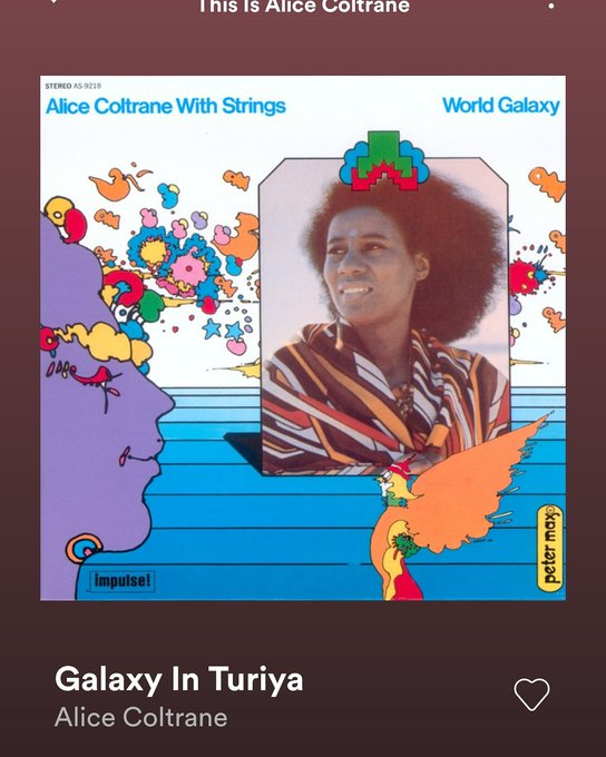 Also Happy Birthday to Ancestor Alice Coltrane