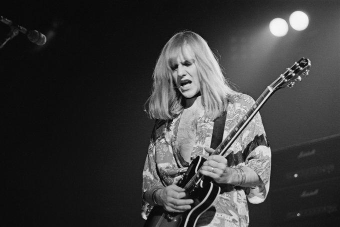 Happy Birthday Alex Lifeson  Photo by Fin Costello 1976