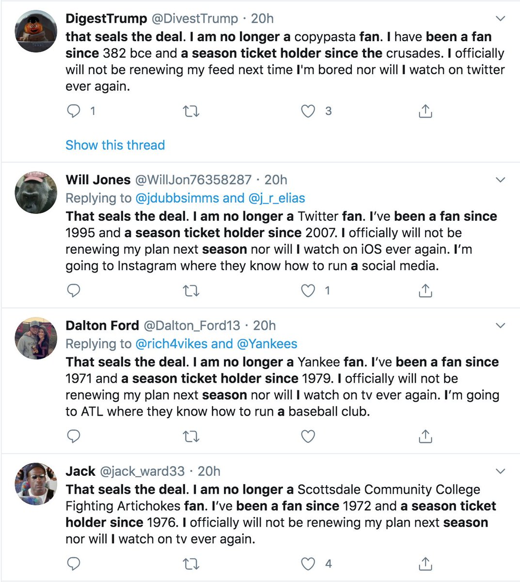 Discover And Read The Best Of Twitter Threads About Copypasta Said, none of these are mine! thread reader app