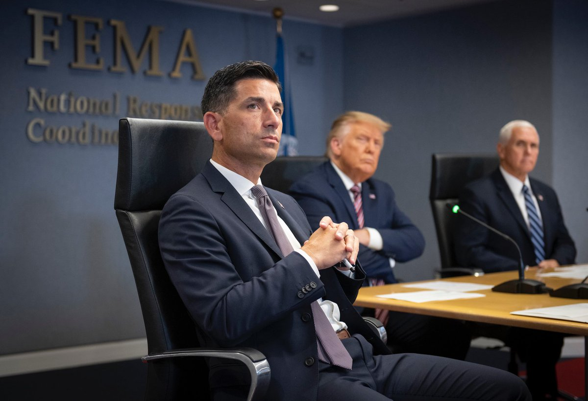 Provided a Hurricane #Laura update and assessment to @POTUS and @VP at @FEMA HQ this afternoon.