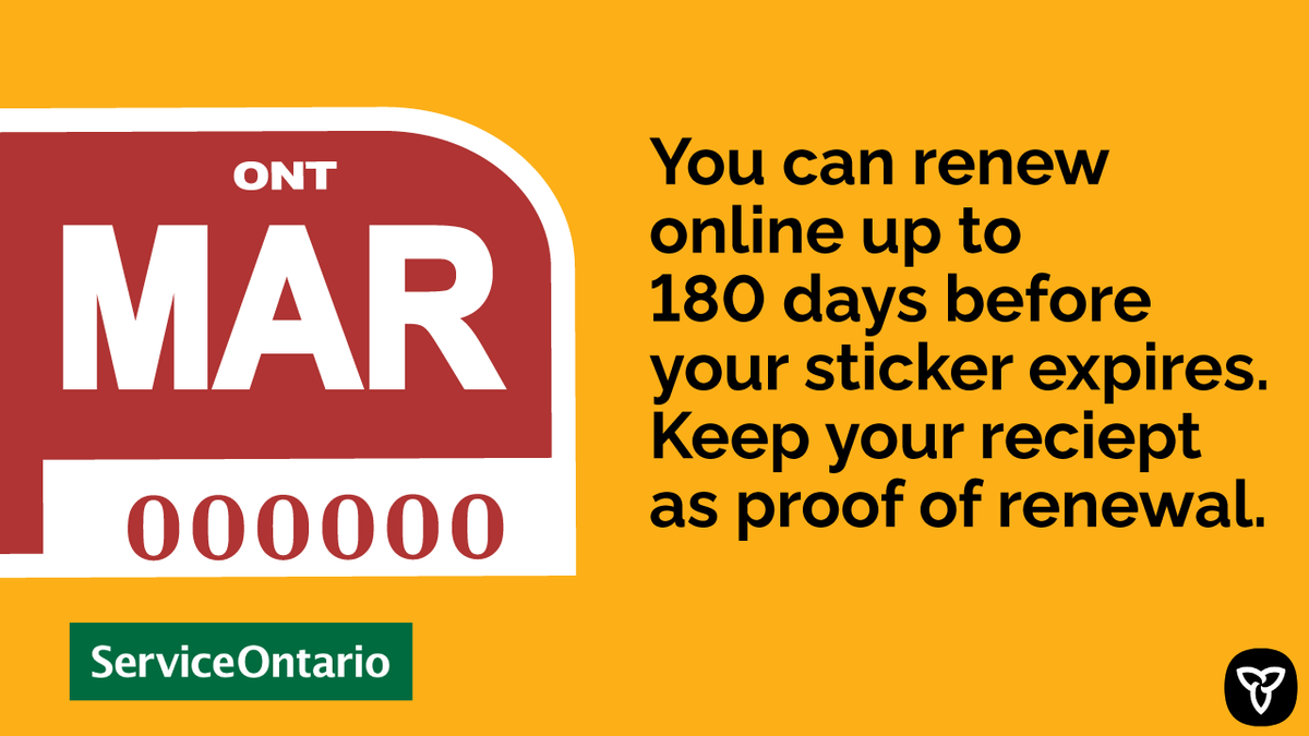 Serviceontario On Twitter You Do Not Need To Renew Your Licence Plate Sticker At This Time As We Have Extended The Expiry Date Although It S Not Required If You Still Wanted To