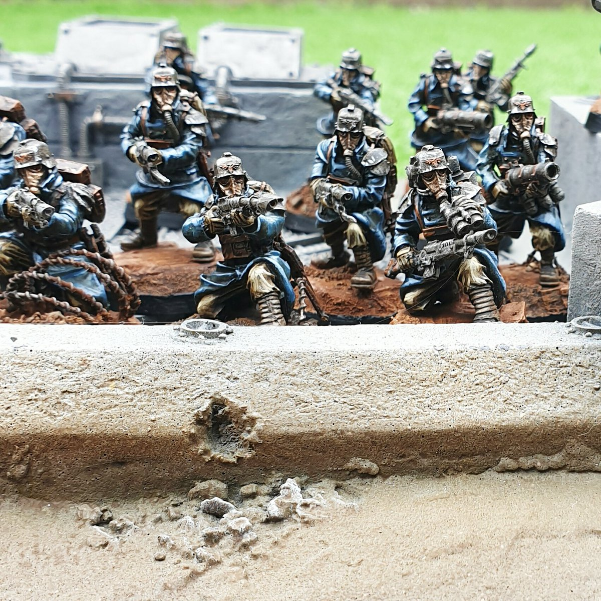 1st squads complete on the #deathkorpsofkrieg complete, hoping for updated rules for 9th edition #warhammer40k  will my prayers be answered @WarComTeam https://t.co/aoklJRxBsJ