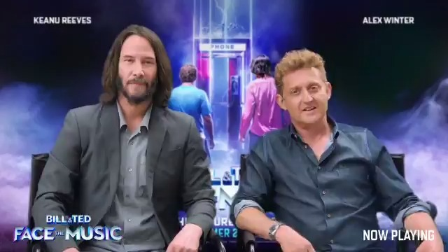 And now, a message to all of you, the most resplendent fans in the universe, from your two favorite dudes - Keanu Reeves and Alex @Winter. Enjoy Bill & Ted Face the Music, and never forget to be excellent to each other, dudes! 🤘🎸 #BillAndTed3 #FaceTheMusic