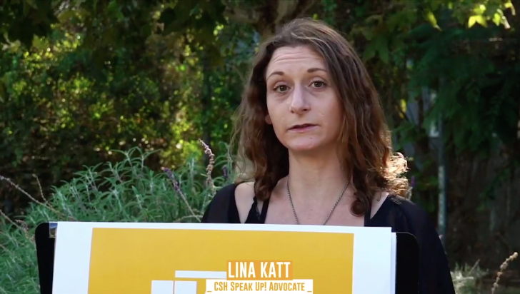 Take 5 minutes and listen to Linas story at 23:55 buff.ly/3gIDcQV The entire presentation is full of empowered voices. Lina, THANK YOU for your impactful words and for being a part of The Center family. Congratulations on graduating from CSH Speak Up today!