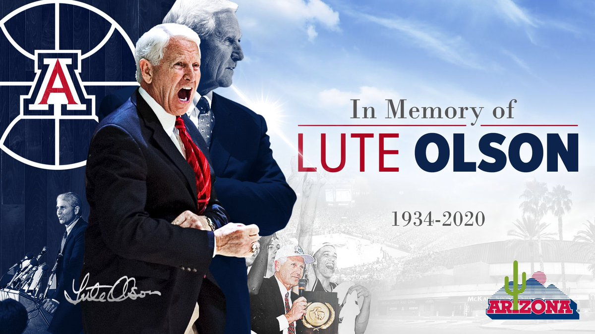 Wildcat. Legend. Icon. Lute.   Coach Olson - We are forever indebted to you for what you did for our program, university and community. #BearDown