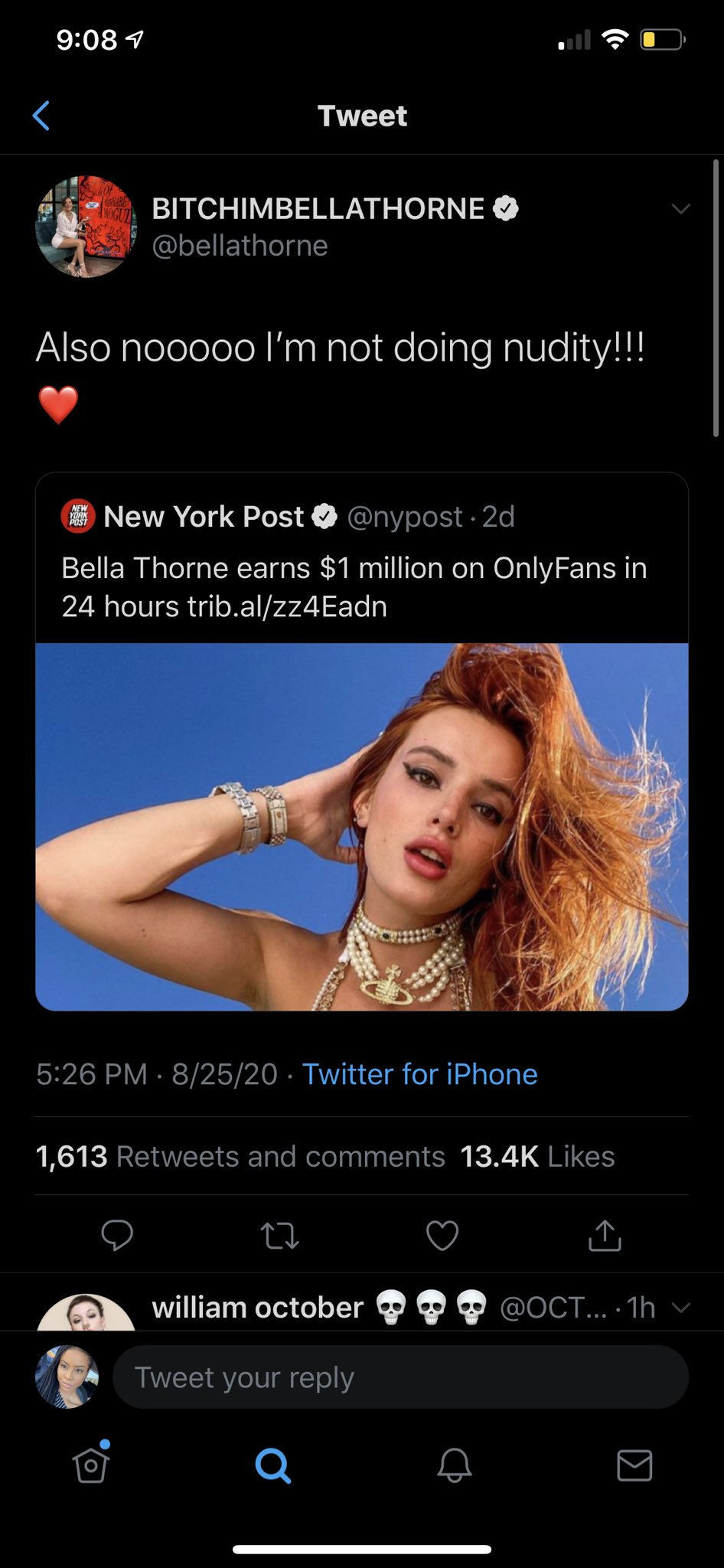 2 pic. anyways yeah, fuck you, bella thorne. https://t.co/dKjxUMUWR0