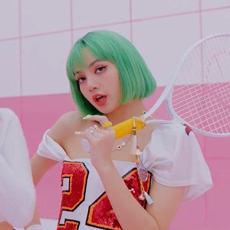 Sv On Twitter Green Hair Lisa Enthusiasts Rise Blackpink Icecream