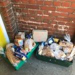 Image for the Tweet beginning: Lotsa bread surplus outside the