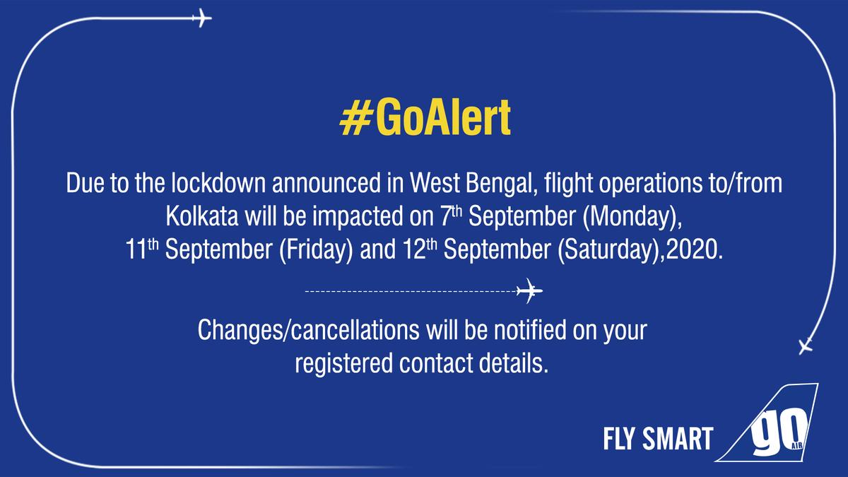 #GoAlert Important announcement for all passengers flying to/from #Kolkata https://t.co/KZee9B0INT