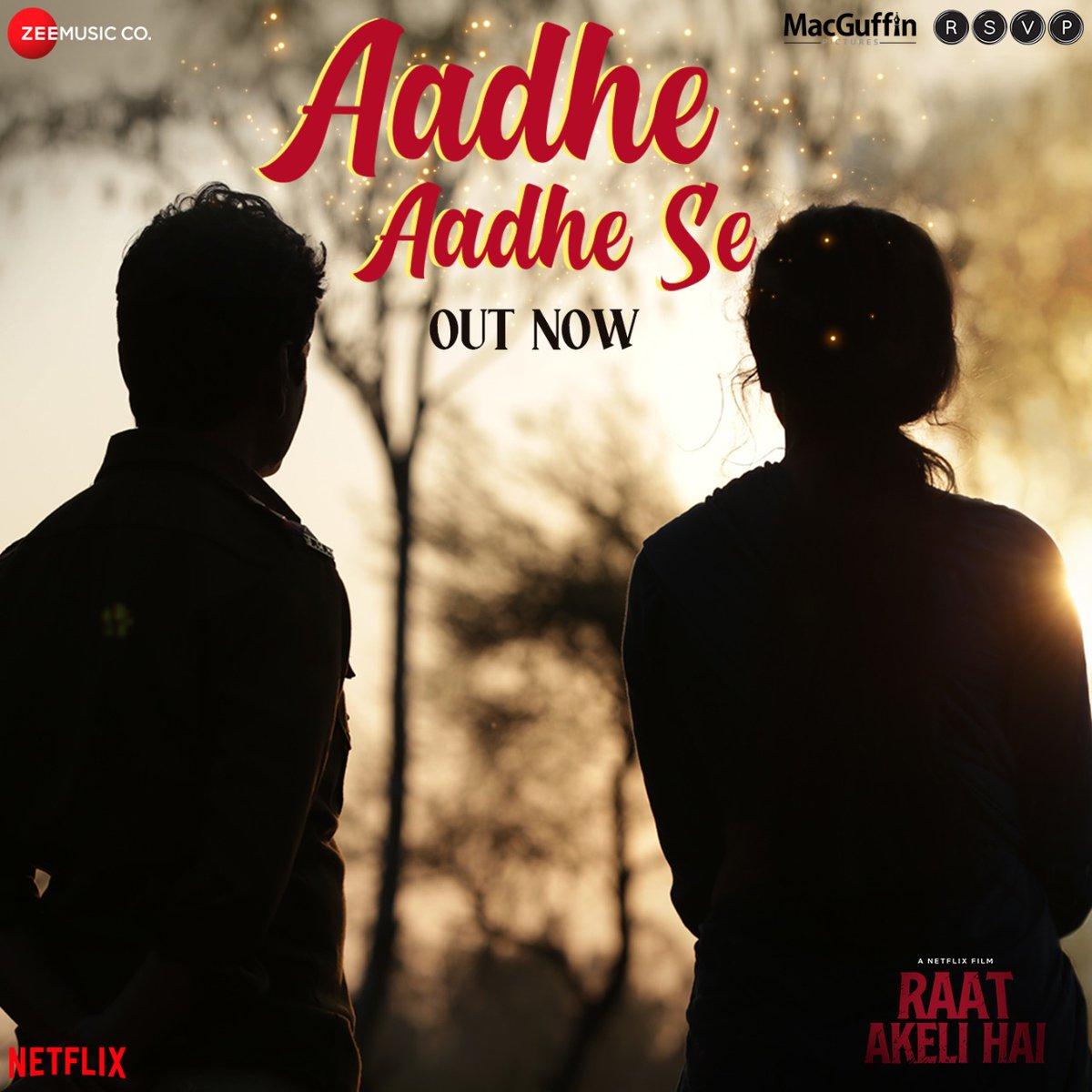 .@MikaSingh and @shilparao11s #AadheAadheSe will stir your heart up! Song out now bit.ly/AadheAadheSe 🎼 #RaatAkeliHai now streaming on @NetflixIndia @Nawazuddin_S @radhika_apte @SneKhanwalkar @rajshekharis @MacguffinP @battatawada @RonnieScrewvala @HoneyTrehan