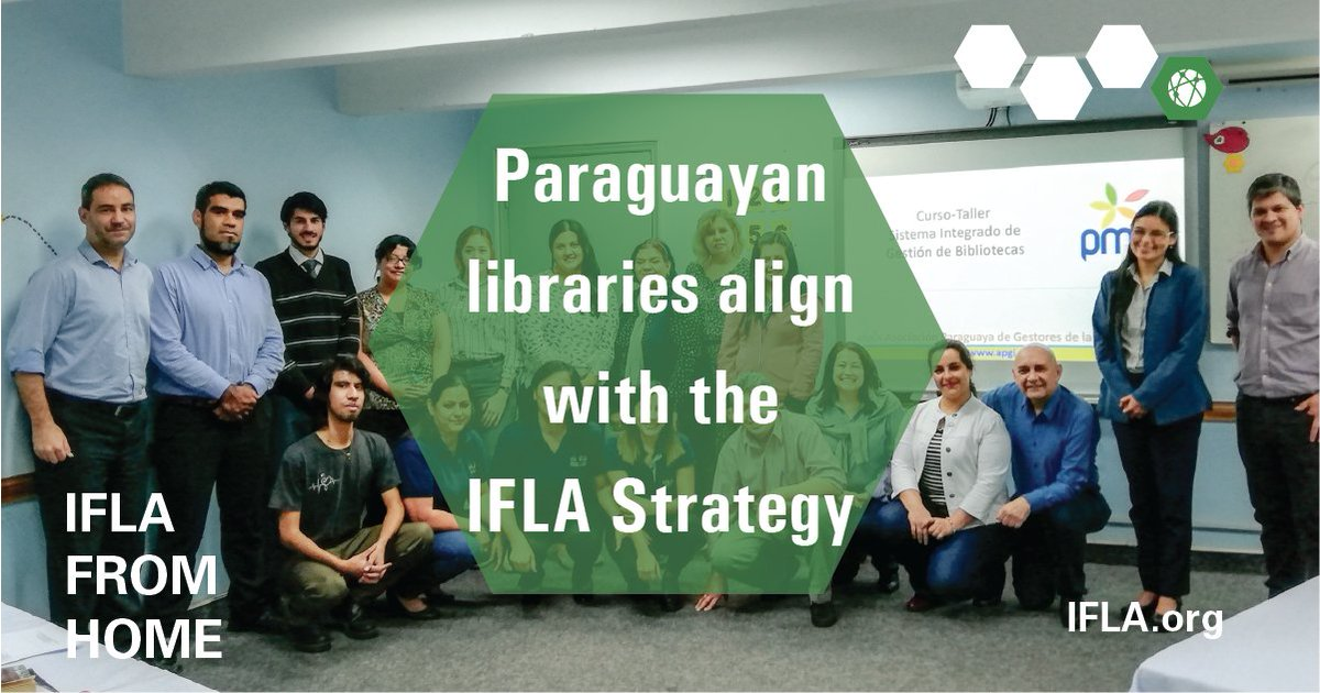Aligned with the #IFLAStrategy, @apgi_2017 works hard to strengthen libraries and librarians in Paraguay for the good of the profession and the communities they serve.   Find out how they're overcoming the challenges they face: https://t.co/Xa4WgryejC   #IFLAfromHome #WeAreIFLA https://t.co/mQswRoX1Ti