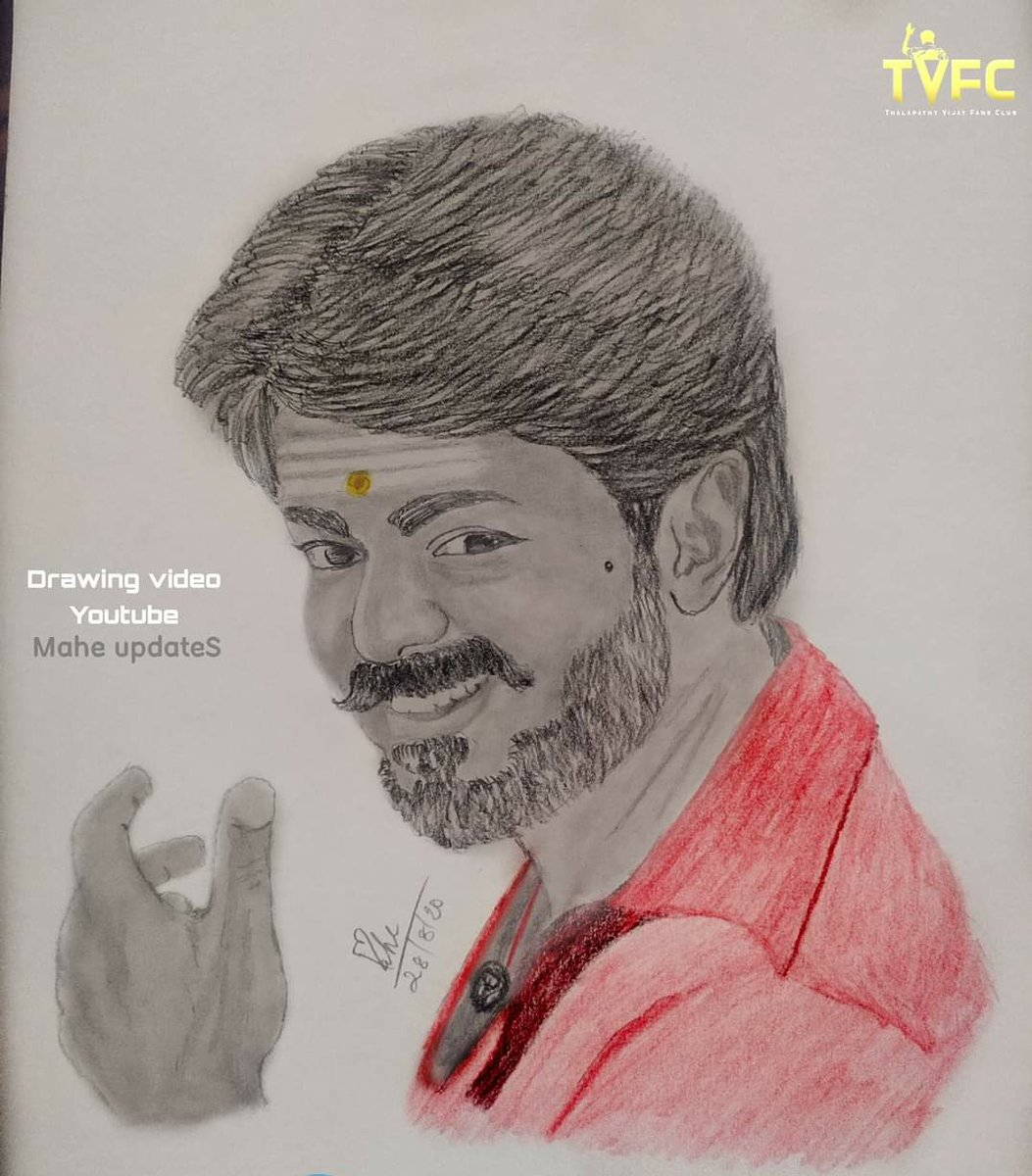 Creative Designers Team On Twitter Pencil Colour Pencil Drawing Thalapathyvijay Drawing By Mahendravj Master Actorvijay