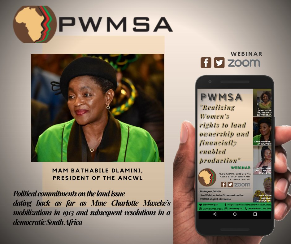 TheProgressive Women's Movement of South Africa (PWMSA) Webinar will begin in less than an hour. You can create a watch party and catch it on the PWMSA Facebook page:facebook.com/pwmsaorgZA #pwmsa #womeninconversation