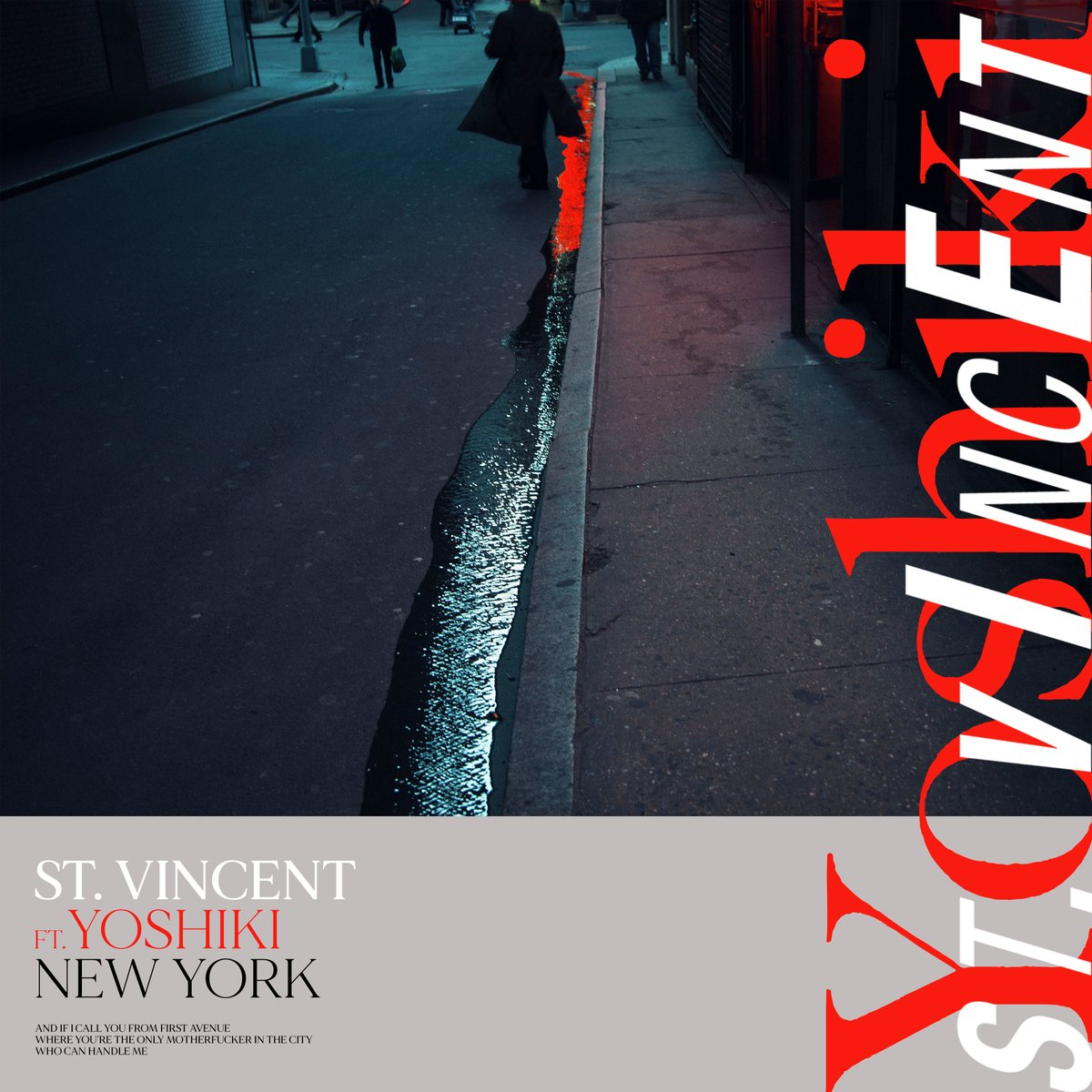 I admire how #StVincent approaches music in an innovative way.NY is a great song to start with,  I'm grateful that she trusted me to rearrange the song. Hope her fans enjoy it, and that my fans will too  @st_vincent NY feat.#YOSHIKI  8/28 本日発売 Listen→ https://t.co/mT8NAi6x2U https://t.co/1Y9GFnksET