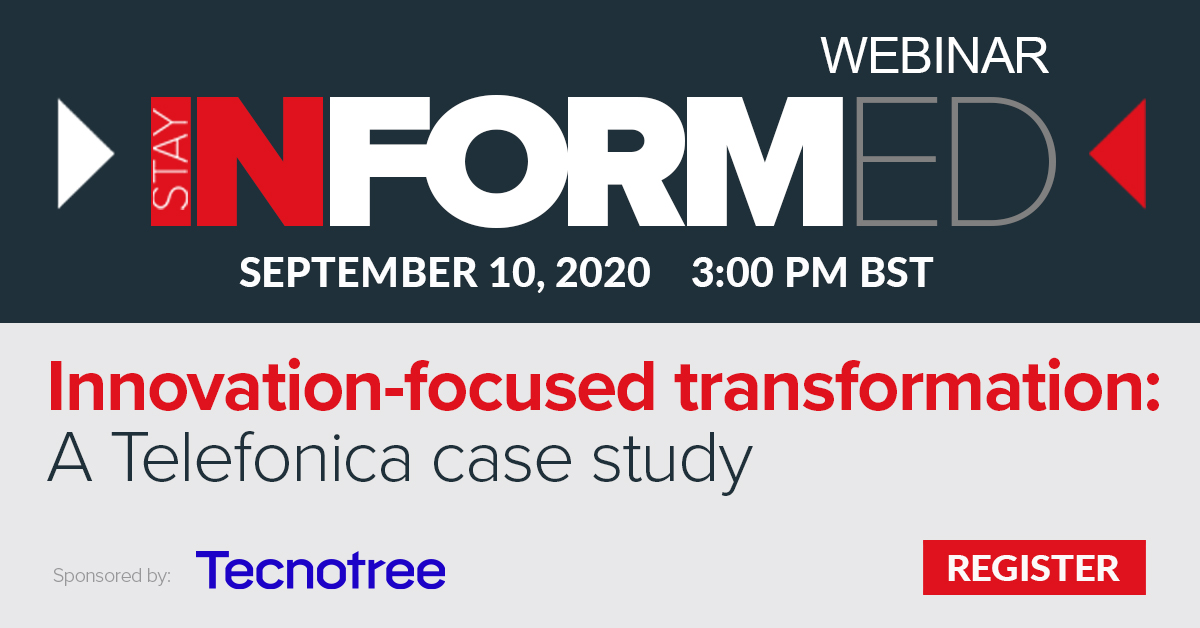 This webinar provides a case study of Telefónica and the approach that it took to transforming its IT systems and customer-facing operations. Reserve your spot today: https://t.co/rvtxZcTGmQ   Sponsored by @tecnotree #telecommunications #digitaltransformation https://t.co/6WxA57mv3d