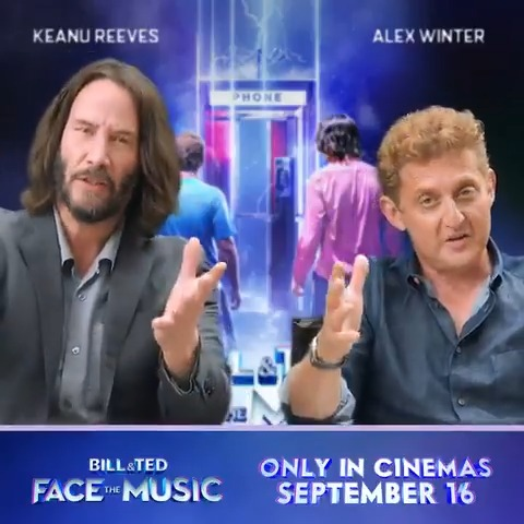 Dudes, the bodacious Bill & Ted will be returning to the big screen sooner than expected! Keanu Reeves and Alex @Winter in Bill & Ted Face The Music will be time travelling into UK cinemas on September 16 🤘 Now party on, dudes! #BillAndTed3 #FaceTheMusic https://t.co/9YlcJdP6jk
