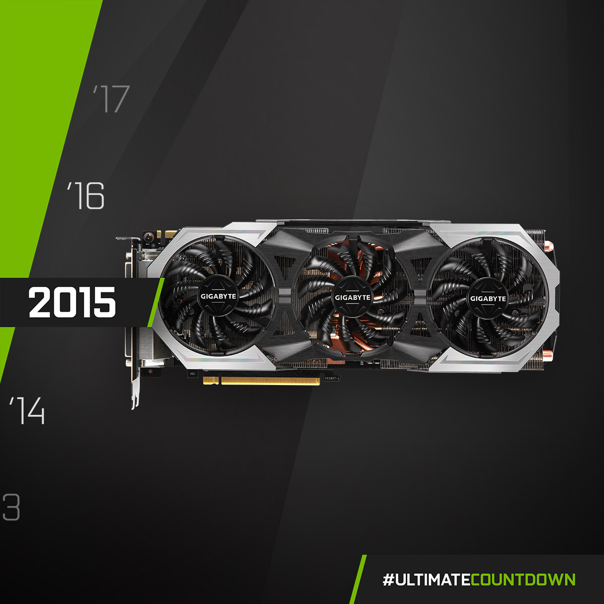 NVIDIA GeForce GTX 980 Ti - 2015  Thermal dissipation power upgraded! 💪 The silvery metal GIGABYTE GTX 980 Ti G1 GAMING equipped with the WINDFORCE 3X cooler - capable of dissipating 600W of heat output from the card!  #UltimateCountdown #UltimateAORUS #GIGABYTE https://t.co/earo2eNlTX