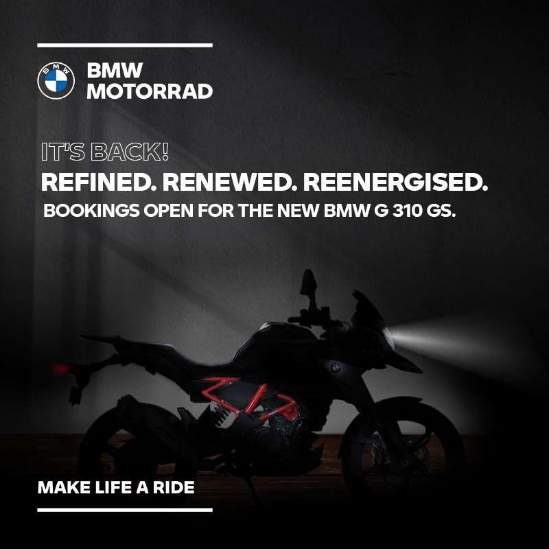 They are back to set your heart racing once again. The new BMW G 310 R and G 310 GS are now open for booking. Contact your nearest BMW Motorrad dealership or click here to register your interest - https://t.co/RUH8aL54FA https://t.co/He7UDQxSEZ