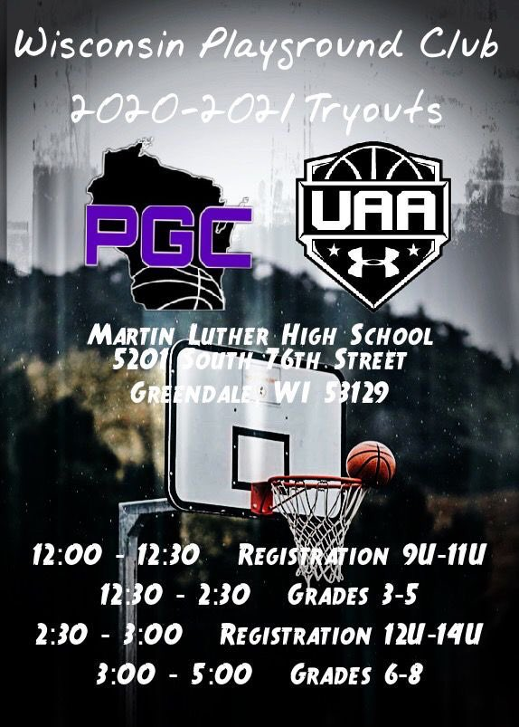 2021 Tryouts - Session 1 (September 6th) and Session 2 (September 19th) ..... earn the opportunity to represent the state of Wisconsin and the Under Armour brand! For registration packet, email wipgcstaff@gmail.com #PGCFamily💜 #UAFuture🏀 #ThroughThisTogether💯 https://t.co/5QV4j7SEee