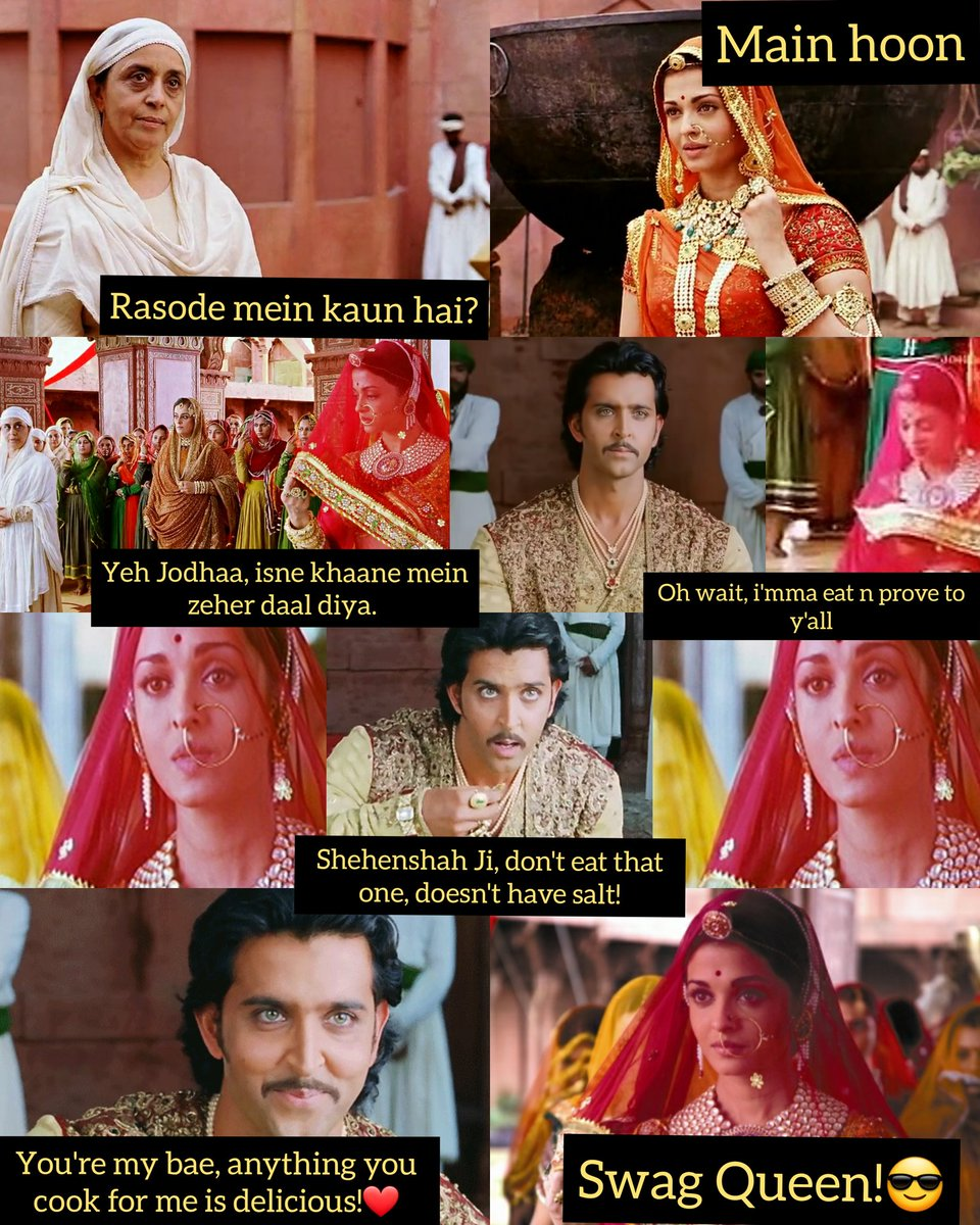 This was the OG #RasodeMeinKaunTha moment in Bollywood!  Maham Anga was Rashi+Kokilaben * 100 and  Jodhaa destroyed her royally 🔥🔥🔥 #HrithikRoshan #AishwaryaRaiBachchan #IlaArun #JodhaaAkbar  @HrithikRules