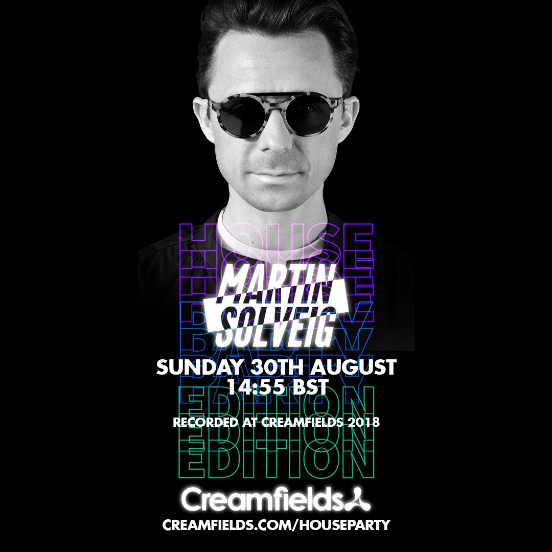 Join me this August Bank Holiday weekend with @Creamfields for the   in support of @MindCharity!  #CreamfieldsHouseParty