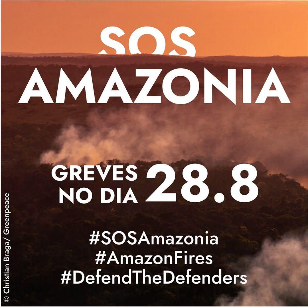Hoje, jovens do mundo inteiro estão em greve pela Amazônia. Até domingo, o movimento Fridays For Future fará tuitaços, conversas e muita arte pela proteção da floresta. Afinal, Amazônia é futuro. + https://t.co/bVFVTffKk1