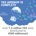 Image for the Tweet beginning: The $TKS airdrop is now