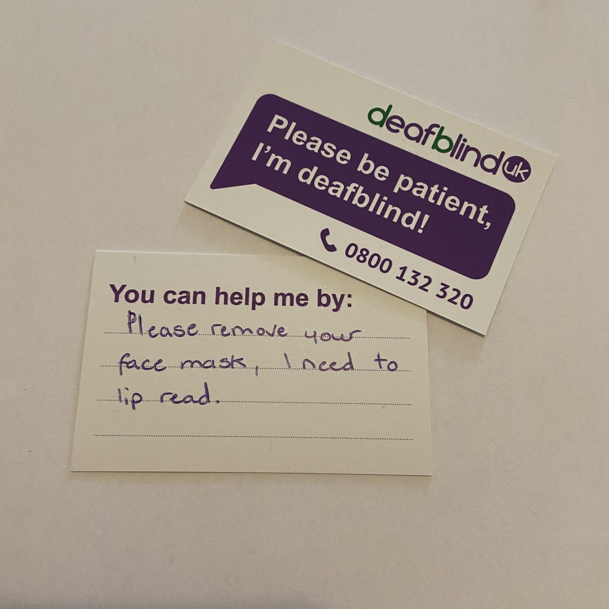 Could you benefit from one of our Deafblind cards? If so, request yours today by emailing info@deafblind.org.uk or call 0800 132 320. https://t.co/ZJRBM83nz6