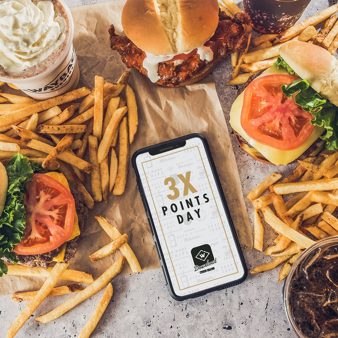 Happy Friday! Celebrate with 3x points on all app purchases. Today only get 3x points on all Wayback app orders. $1 = 3 points and 100 points = $10 reward! https://t.co/Pz8tMtDXWY