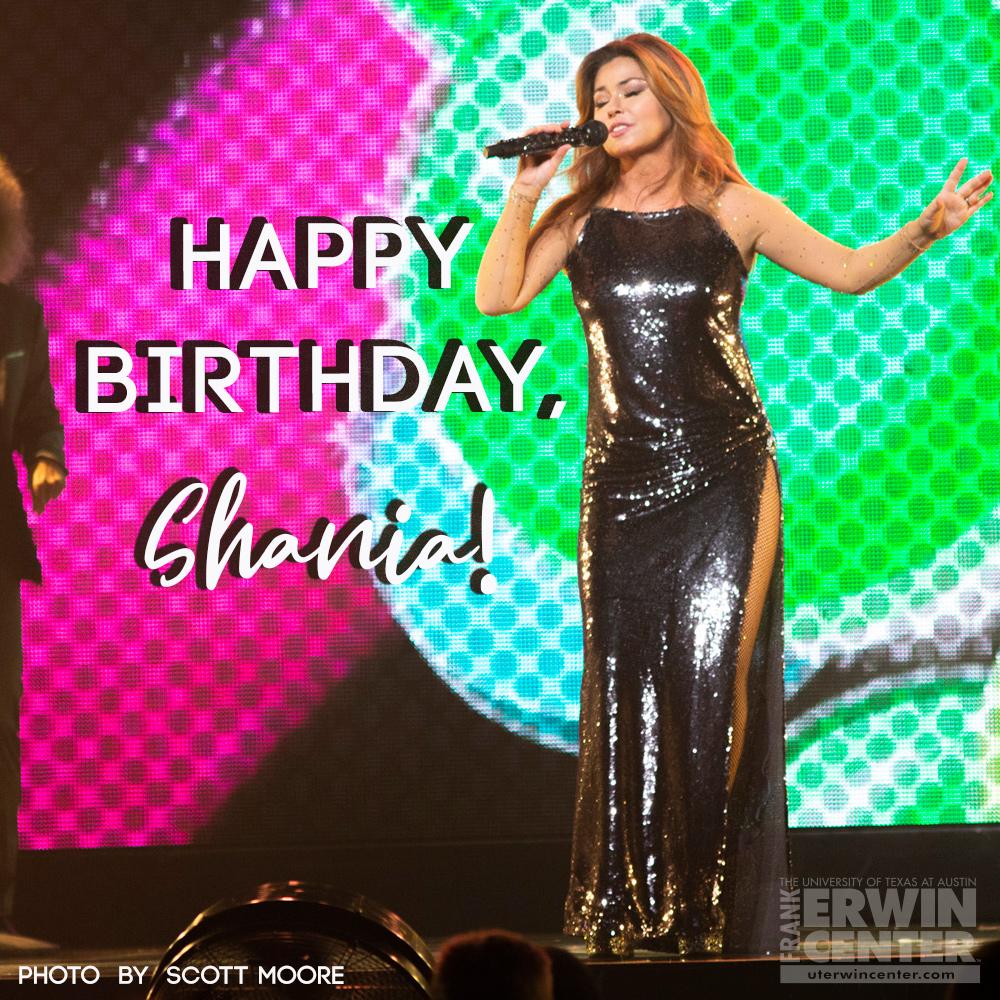 Man, it feels like a birthday! Happy birthday to @ShaniaTwain! 🥳😍🎤