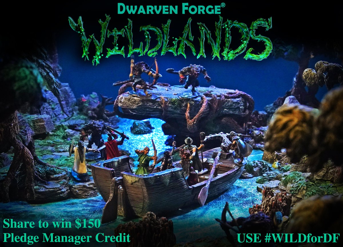 Wild for our Wildlands Kickstarter!? Tag two friends and retweet to win $150 pledge manager credit. Use #WILDforDF, and participate before Kickstarter ends Sept. 2nd to qualify! Back Now! bit.ly/2PP81YS Rules: dwarvenforge.com/contests* *Open to international customers.