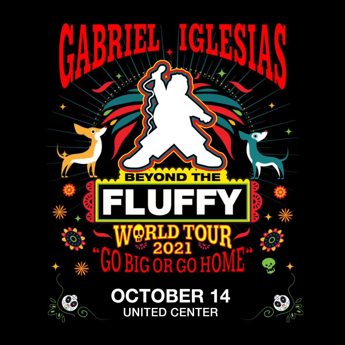 """The @FluffyGuy """"Beyond The Fluffy"""" World Tour """"Go Big or Go Home"""" date originally scheduled to take place here on Mar. 14, 2020, that was postponed to Oct. 18, 2020, has been rescheduled to Oct. 14, 2021.  Tickets are valid for the new date. Details: https://t.co/AeKRawPhL7 https://t.co/TO76KtjYOt"""
