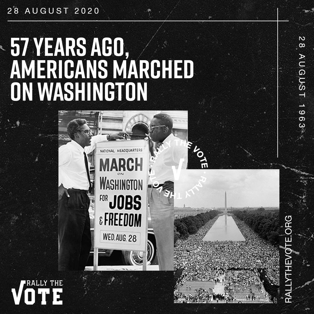 57 years ago, Americans Marched on Washington.  We must continue to educate for a greater national understanding of the problems of racial and economic injustice in our country. https://t.co/ljluQchrg7