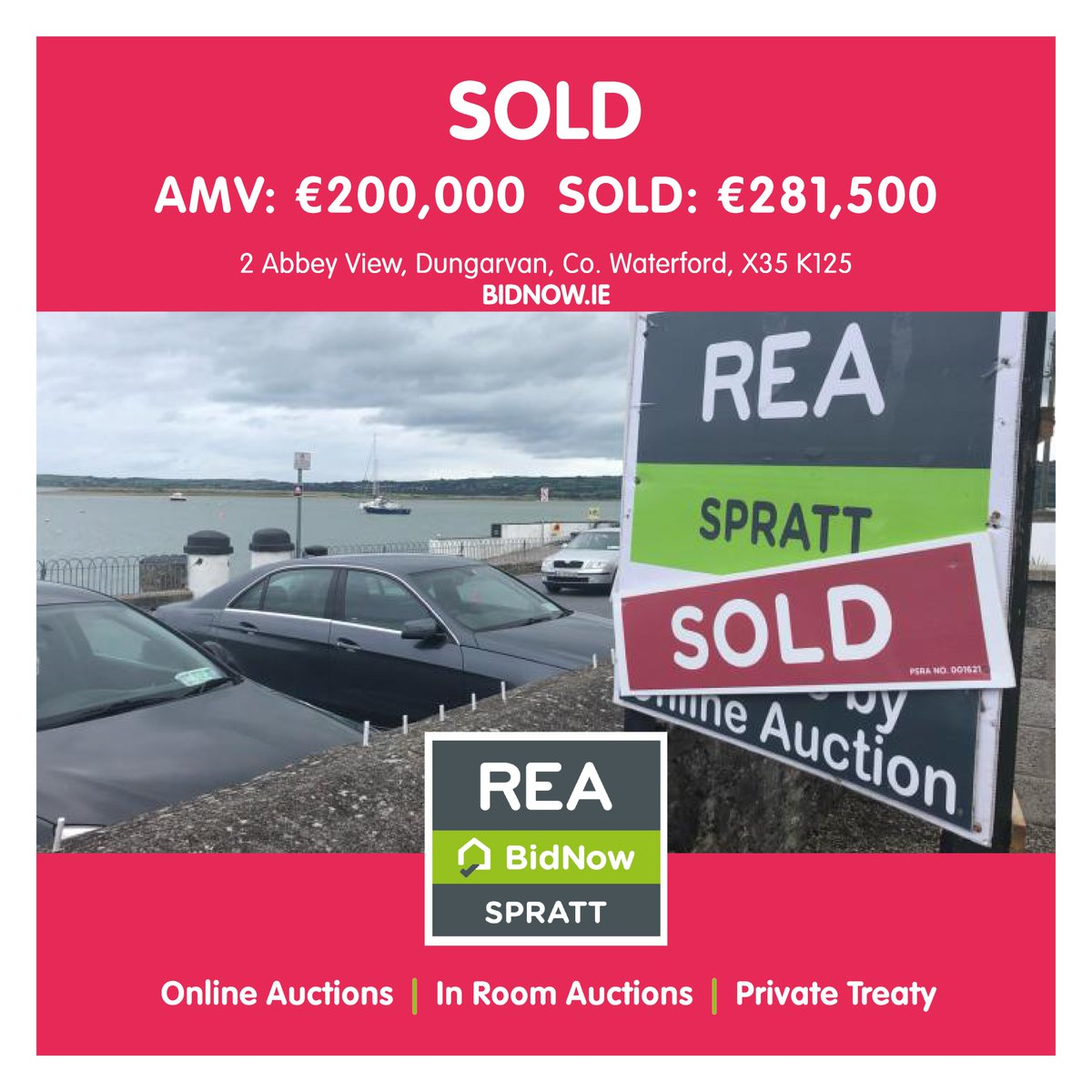 SOLD BY ONLINE AUCTION & WHAT A RESULT!!  AMV: €200,000 SOLD: €281,500 A total of 78 bids between 7 parties!  DM @REASpratt for more info or visit: https://t.co/wG1oiEFs4l  Buy or sell your property from the safety and comfort of your own home online at https://t.co/99KI0QbpnI https://t.co/HfFYkeU4cr