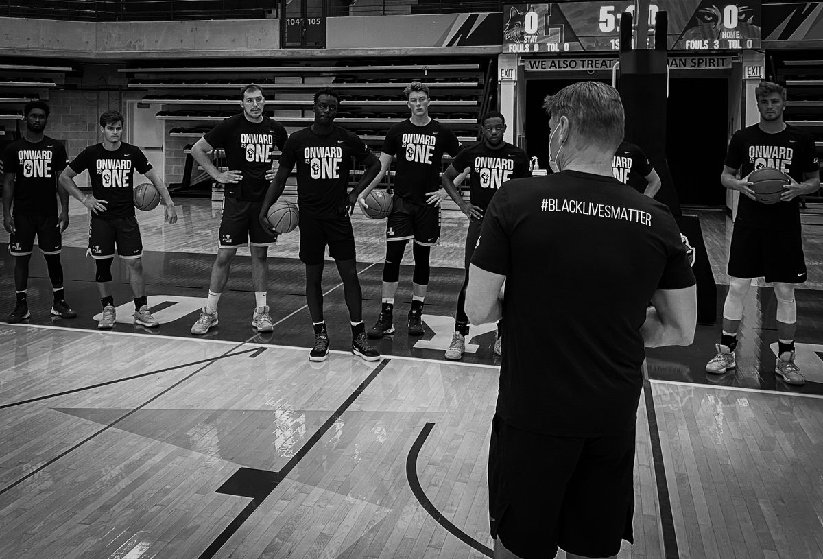 """Onward to Victory"" is a lyric from our LU Fight song. Very proud to Stand as One with our Ath Dept. and ALL the Student Athletes at Loyola to Demand Change & actively Fight against racism and Social Injustices!  #OnwardAsOne #OnePack #EnoughIsEnough  #BlackLivesMatter https://t.co/PF6HKZc3lr"