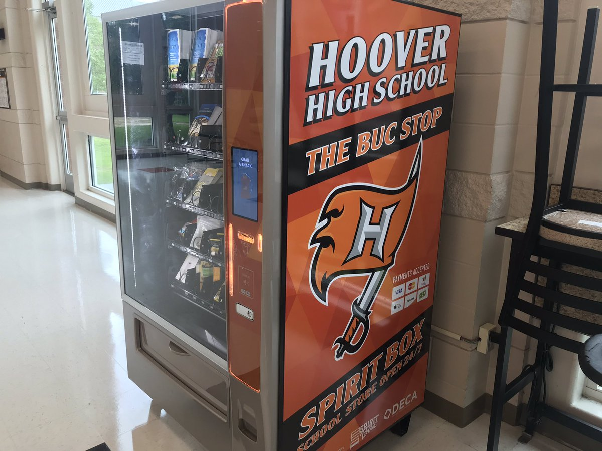 Love our vending machine for school supplies!! #HooverPride #HCSstrong