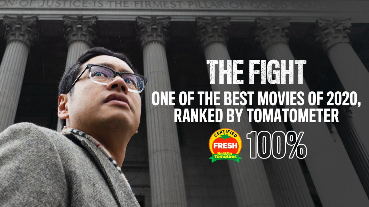 #TheFightMovie has a flawless 100% on @RottenTomatoes — and they've named it one of the best movies of 2020.