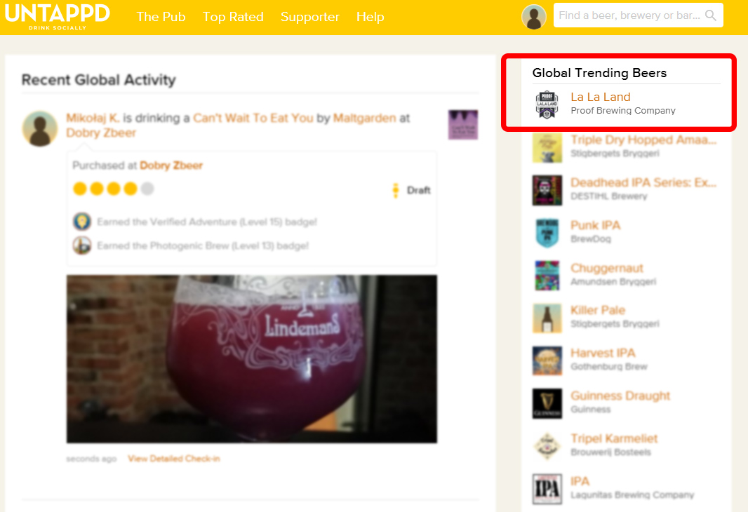 Holy smokes! La La Land IPA is the #1 trending beer in the world on @untappd right now. 🤯