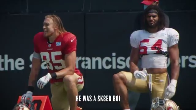 He was a sk8er boi she said watch @gkittle46 mic'd up later boi.  🖥  #49ers Facebook/YouTube ⏰  5 PM PT @Cisco