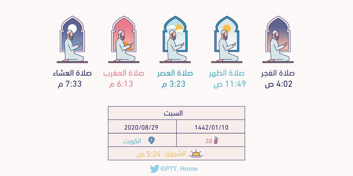 متى يأذن الفجر في الكويت