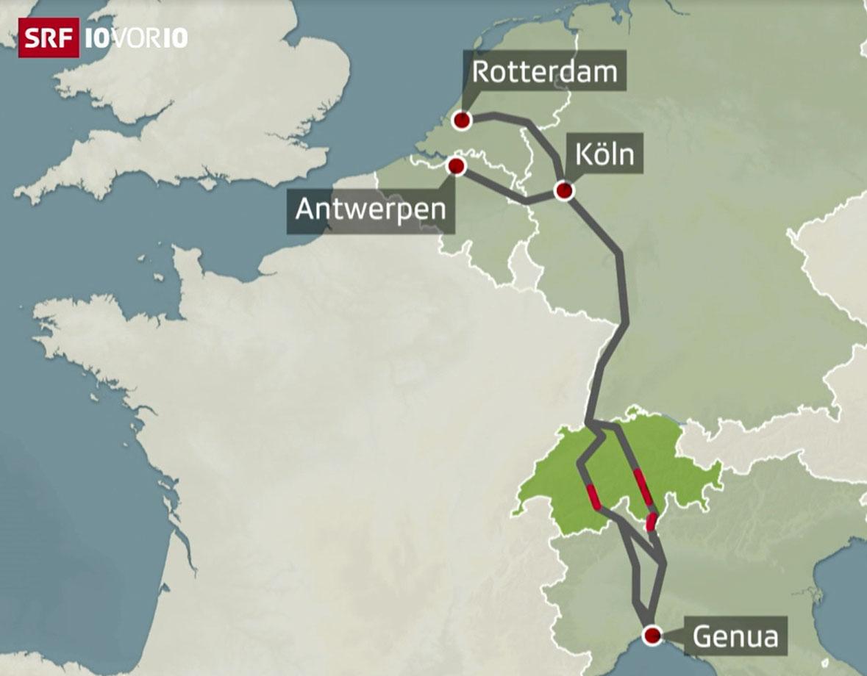 SRF 10vor10: Fertigstellung der #NEAT mit der Inbetriebnahme des Ceneri-Basistunnels. Doch es bestehen noch Hindernisse für die Verkehrsverlagerung durch die Schweiz wegen fehlender Ausbauten der Zulaufstrecken. https://t.co/uXTElchk0D /Im https://t.co/ZPsqec3wS4
