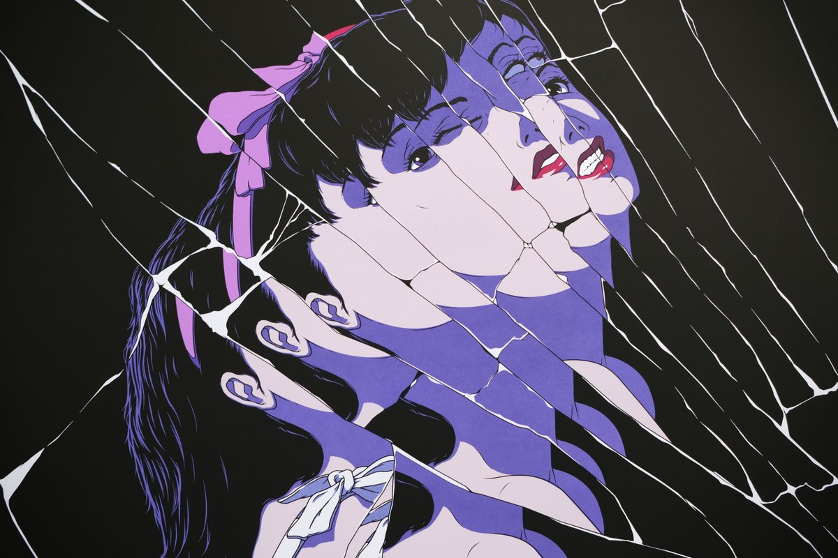 Ethan On Twitter My Poster Design For The Psychological Thriller Perfect Blue 1997 Directed By Satoshi Kon 24 X 36 7 Colour Screen Print Limited Edition Of 200 Printed By Whiteduck Perfectblue Satoshikon