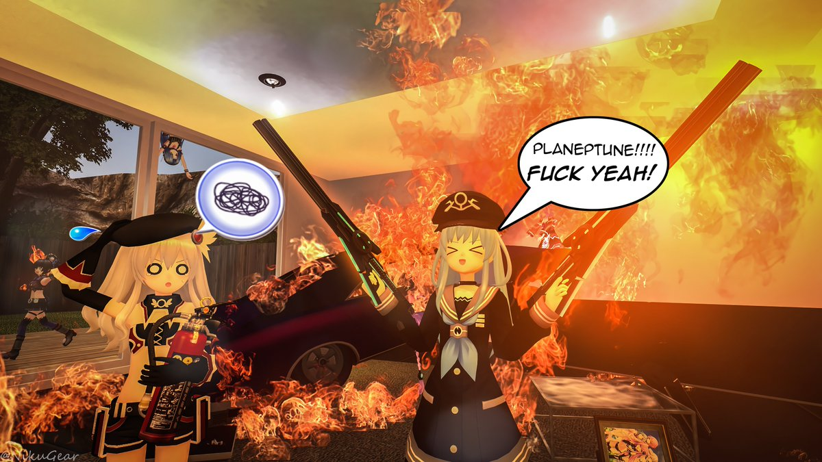 T-this is what happens when @MarRamir_ gets a hold of my weapons.... I hope insurance covers this....  //this picture also features @Nowa_Noire @Neko_Plutia @MamaNepsyVertsy and @DanIwa24 https://t.co/2uNRzlhiPW
