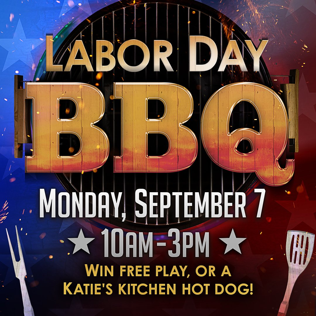 Kick back, relax, and win this Labor Day! Starting at 6AM on Monday, September 7th, earn 100 base points playing your favorite Slots and Table Games with your Xperience Players Club Card to be eligible to play Labor Day BBQ. https://t.co/GafZt2Nqgs