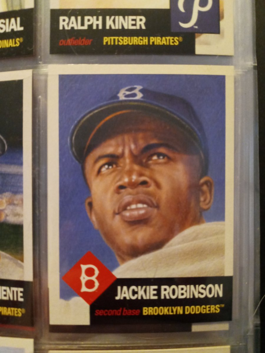 Well, it took me all day, but I finally finished up my #JackieRobinsonDay post on ye olde blog.   https://t.co/lbjxMf5gOW  @EfdotStudio #ToppsLivingSet @ToppsLivingStat @ToppsBUNT #Jackie42 #JackieRobinsonDay2020 @dodgers_cards #BrooklynDodgers @Dodgers  #thehobby https://t.co/QjLW3LW4SK