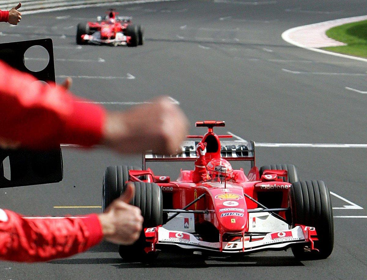 7 Volte Campione del Mondo Piloti: #OnThisDay back in 2004, Michael secured his 7th @F1 world championship title at @circuitspa. 🏎 @schumacher 🏎 Michael holt sich seinen 7. WM-Titel am 28. August 2004.  🏆Pic: FRANCOIS LENOIR / AFP https://t.co/spteGzGLdS